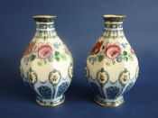 Pair of Keeling and Co 'Clifford' Losol Ware Vases c1910
